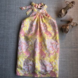 NWT Badgley Mischka Nola Modelle halter dress